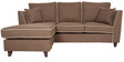 Carmelo RHS Two Seater Sofa with Lounger in Mid Brown Colour by Urban Living