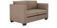 Carolina Two Seater Sofa in Coffee Colour by ARRA