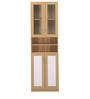 Caddy Storage Cabinet in Light Oak & White Colour by @Home