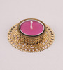 Candles N Beyond Pink Wax Tea Light Holder with Floating Candle
