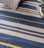 Carpet Overseas Blue & Yellow Cotton 70 x 50 Inch Stripes Design Flatweave Area Rug