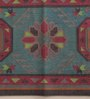 Carpet Overseas Green & Red Cotton 30 x 20 Inch Area Rug