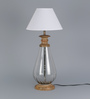 L'Aqila Table Lamp In White by CasaCraft