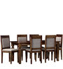 Cavendish Six Seater Dining Set in Provincial Teak Finish by Amberville