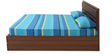 Champion Queen Bed with Storage in Walnut Brown by @Home