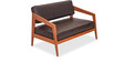 Churchill Two Seater Sofa in Chocolate Brown by Durian