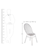 Chair in white Colour by Indecrafts