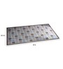 Checkerboard Accent Rug Stone by Riva