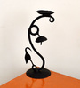 Chinhhari Arts Black Wrought Iron Abstract Candle Stand