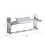 Cipla Plast Global 227G Silver Stainless Steel 18.9 x 6.7 x 10 Inch Towel Rack with Rod