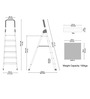Cipla Plast Aluminium 6 Steps 6 FT Ladder