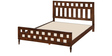 Classic Platform Queen Bed in Brown Color by Afydecor