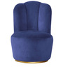 Classic Scalloped Design Accent Chair in Bluberry Color by Afydecor