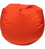 Classic Style Bean Bag Cover in Orange Colour by Sattva