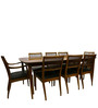 Classic Style Eight Seater Dining sets with Sleek Slatted Back Chairs by Afydecor