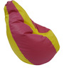 Classic Style Filled Bean Bag in Yellow Pink Colour by Orka