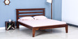 Milton Queen Bed in Provincial Teak Finish by Woodsworth