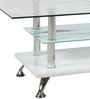 Coffee Table in White & Purple Colour by Penache Furnishings