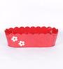 Color Palette Red Floral Planter