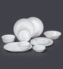 Corelle Livingware Mystic Grey Vitrelle Glass Dinner Set - Set of 21