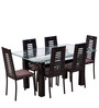 County Six Seater Dining Set in Brown by Royal Oak