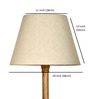 Craftter Off-white Acrylic Fused with Cloth Textured Floor Lamp Shade
