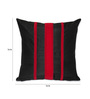 Creative Homez Red & Black Polyester 16 x 16 Inch Striped Cushion Cover