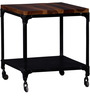 Nisto Coffee Table with Wheels in Dual Tone Finish by Bohemiana