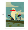 Crude Area Paper 12 x 17 Inch Yeti Taking a Ride Print Unframed Poster