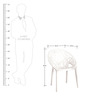 Crystal Chair in White Colour by Nilkamal