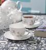 Dandy Lines Crown 25006 Bone China Tea Set - Set of 15