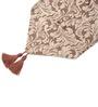 Decorika Brown Velvet Floral Table Runner