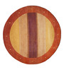 Designs View Red & Gold Wool 96 x 96 Inch Hand Knotted Modern Stripe Design Round Area Rug