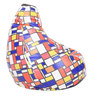 Digital Printed XL Bean Bag Filled with Beans in Chequered Box Design by Can