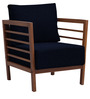 Dominico One Seater Sofa in Navy Blue Colour by Auspicious Home