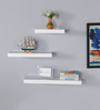 Anapolis Set Of 3 Wall Shelf in White by CasaCraft