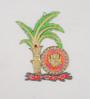 Ecraftindia Multicolour Papier Mache Lord Ganesha Under Tree Key Holder