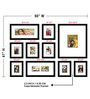 Elegant Arts and Frames Black Synthetic 60 x 1 x 41 Inch Group 10-C Wall Collage Photo Frame