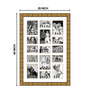 Elegant Arts and Frames Gold Wooden 28 x 1 x 40 Inch 15 Pocket Family Collage Photo Frame