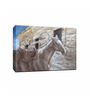 Elegant Arts and Frames Canvas 47.2 x 35.4 Inch Triste Caballo by Andrew. H Framed Painting