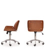 Elegante Mid Back Executive Chair in Dark Tan Leather by Durian
