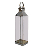 Eleganze Decor Silver Stainless Steel & Glass Abad Lantern Candle Holder