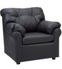 Elzada Comfy One Seater Sofa in Black Colour by Furny