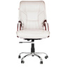 Leatherette Executive Chair in Cream Color by Karigar