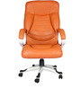 Leatherette Executive Chair in Orange Color by Karigar