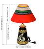 ExclusiveLane Black & Red Polyvinyl & Terracotta Hand Painted Lamp & Vase Combo