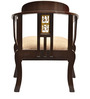 Teak Wood Living Room Chair in Walnut Finish by ExclusiveLane