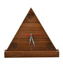 Exclusivelane Brown Sheesham Wood Triangular Table Clock