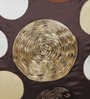 Eyda Choco Polyester 16 x 16 Inch New Ribbon Spot Cushion Cover