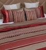 Eyda Red Polyester Queen Size Bed Cover - Set of 5